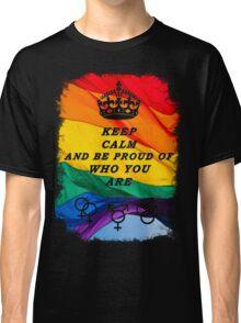 LGBT KEEP CALM BLACK Classic T-Shirt