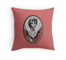Sanity in disguise (red) Throw Pillow