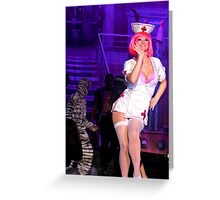 Fiends -  Naughty Nurse says Hello Greeting Card