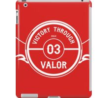 Victory through Valor (Minimalist Inverted) iPad Case/Skin