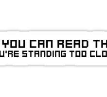Funny Random joke Cool Quote Sticker