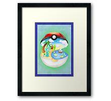 Pokemon: Water Starters Home Framed Print