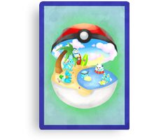Pokemon: Water Starters Home Canvas Print