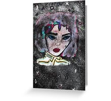 Space goddess Greeting Card