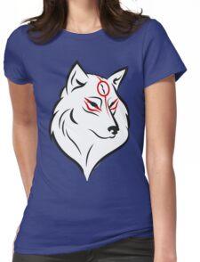 Okami head Womens Fitted T-Shirt