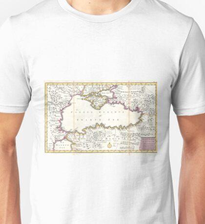 Vintage Map of The Black Sea (1747) Unisex T-Shirt