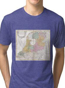 Vintage Map of Holland (1748) Tri-blend T-Shirt