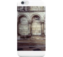 Arcade on wall with lamb of God central Cathedral Sens France 198405050111 iPhone Case/Skin