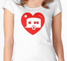 I Love Heart My Camper Caravan Summer Holidays Women's Fitted Scoop T-Shirt