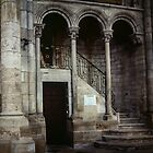 The treasury and entrance stairs Cathedral Sens France 198405050112 by Fred Mitchell