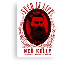 Ned Kelly - Original Outlaw Design in red Canvas Print