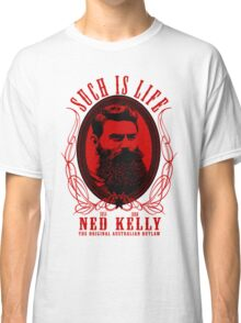 Ned Kelly - Original Outlaw Design in red Classic T-Shirt