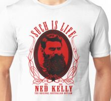 Ned Kelly - Original Outlaw Design in red Unisex T-Shirt