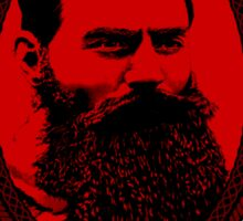 Ned Kelly - Original Outlaw Design in red Sticker