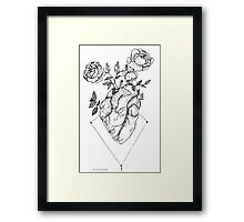 Heart - Roses Framed Print