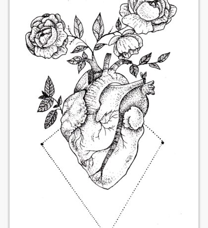 Heart - Roses Sticker