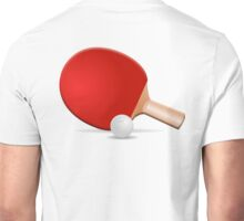Ping Pong, Table Tennis, Bat & Ball Unisex T-Shirt