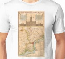Vintage Map of Philadelphia Pennsylvania (1750) Unisex T-Shirt