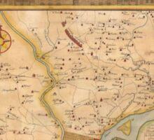 Vintage Map of Philadelphia Pennsylvania (1750) Sticker