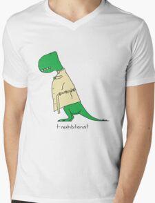 T-Rexhibitionist Mens V-Neck T-Shirt