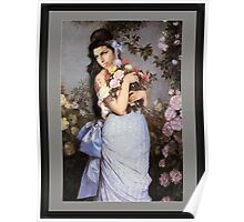 Amy Winehouse in a Rose Garden  Poster