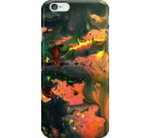 Orange Green Liquid Abstract Painting iPhone Case/Skin
