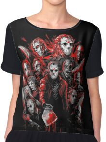 Jason Voorhees (Many faces of) Chiffon Top