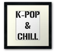 kpop chill Framed Print