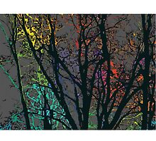 Rainbow Trees (dark) by KaySpike