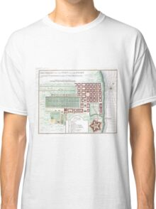 Vintage Map of Cape Town South Africa (1750) Classic T-Shirt