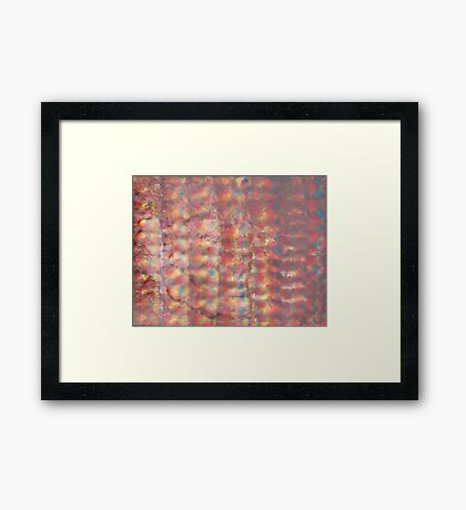 Watercolor Ink Texture Painting Framed Print