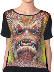 The beast from Planet X Chiffon Top
