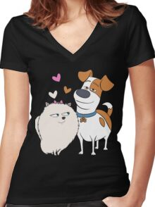 Max From The Secret Life of Pets Women's Fitted V-Neck T-Shirt