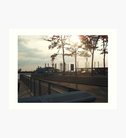 Views of Red Hook - Water Taxi Station Art Print