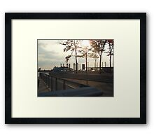 Views of Red Hook - Water Taxi Station Framed Print