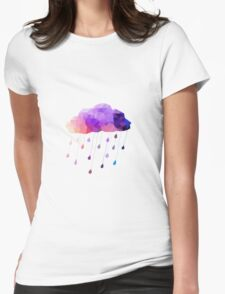 Raindrop Cloud Womens Fitted T-Shirt