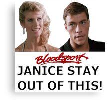 Bloodsport - Frank & Janice  Canvas Print