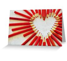 To the heart (texture) Greeting Card