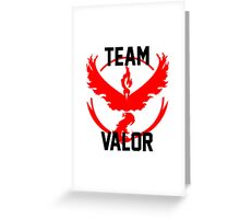 Team Valor - Pokemon Go [White] Greeting Card