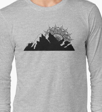 Mountain Mandala Long Sleeve T-Shirt