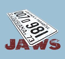 Jaws License Plate by morph99