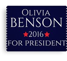 Olivia Benson For President  Canvas Print