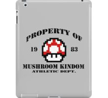 Property of Mushroom Kingdom red iPad Case/Skin