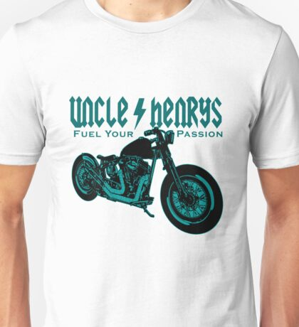 Bobber Motorcycle 'Fuel your Passion' in teal Unisex T-Shirt