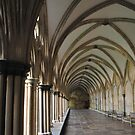 Cloisters of Salisbury Cathedral by Photography  by Mathilde