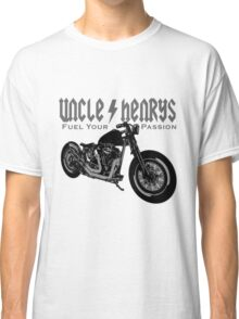 Bobber Motorcycle 'Fuel your Passion' in grey Classic T-Shirt