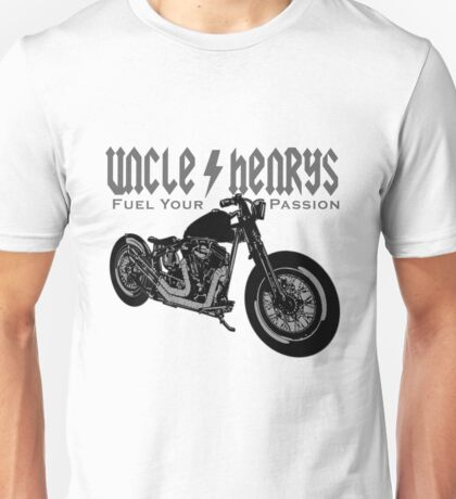 Bobber Motorcycle 'Fuel your Passion' in grey Unisex T-Shirt
