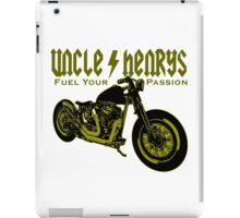 Bobber Motorcycle 'Fuel your Passion' in yellow iPad Case/Skin