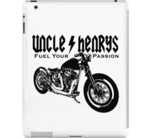 Bobber Motorcycle 'Fuel your Passion' in black iPad Case/Skin