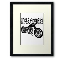 Bobber Motorcycle 'Fuel your Passion' in black Framed Print